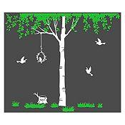 Vinilo Árbol del amor Verde claro, blanco 163x140cm