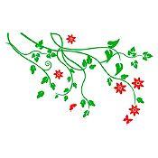 Vinilo Árbol de almendro Verde claro, rojo