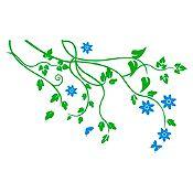 Vinilo Árbol de almendro Verde claro, azul claro 160x100cm