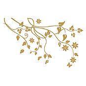 Vinilo Árbol de almendro Dorado 120x74cm