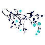 Vinilo Árbol de almendro Menta, azul oscuro 120x74cm