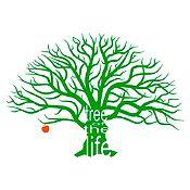 Vinilo Árbol de la vida Verde, rojo 144x100cm
