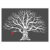 Vinilo Árbol de la vida Blanco / rojo