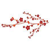Vinilo Árbol Sakura Vinotinto, rojo 160x88cm