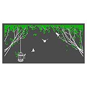 Vinilo Aves en el parque Blanco / verde claro
