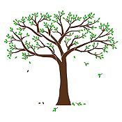 Vinilo Árbol genealógico Marrón, verde claro 166x140cm