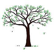 Vinilo Árbol genealógico Negro, verde claro 190x160cm