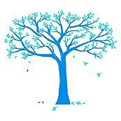 Vinilo Árbol genealógico Azul claro, menta 190x160cm