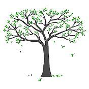 Vinilo Árbol genealógico Gris oscuro, verde claro