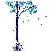 Vinilo Naturaleza Azul oscuro, azul claro 93x140cm
