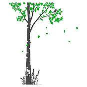 Vinilo Naturaleza Gris oscuro, verde 93x140cm