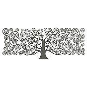 Vinilo Árbol de la vida Klimt Gris Oscuro