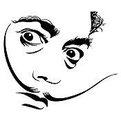 Vinilo Dalí Negro 70x60cm