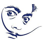 Vinilo Dalí Azul oscuro