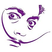 Vinilo Dalí Morado 70x60cm