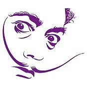 Vinilo Dalí Morado 86x75cm