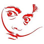 Vinilo Dalí Rojo 86x75cm