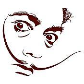 Vinilo Dalí Marrón 105x90cm