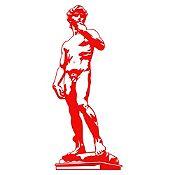 Vinilo David Rojo 120x51cm