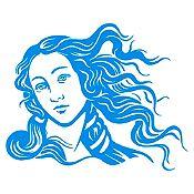Vinilo Venus Azul claro 68x85cm
