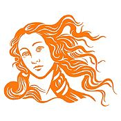 Vinilo Venus Naranja 68x85cm