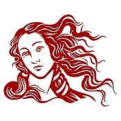 Vinilo Venus Vinotinto 80x100cm