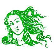 Vinilo Venus Verde oscuro 68x85cm