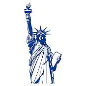 Vinilo Estatua de la libertad Azul Medio
