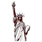 Vinilo Estatua de la libertad Marrón 42x90cm