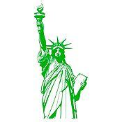 Vinilo Estatua de la libertad Verde claro