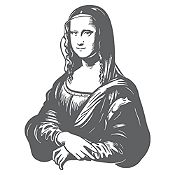 Vinilo Mona Lisa Gris oscuro 92x120cm