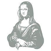 Vinilo Mona Lisa Plata 68x90cm