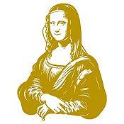 Vinilo Mona Lisa Dorado 80x105cm