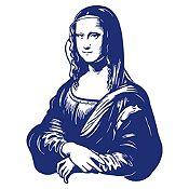Vinilo Mona Lisa Azul oscuro 80x105cm