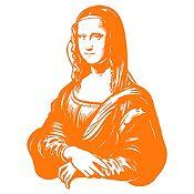 Vinilo Mona Lisa Naranja 80x105cm
