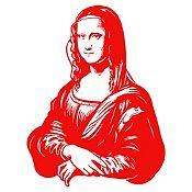 Vinilo Mona Lisa Rojo 92x120cm