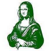 Vinilo Mona Lisa Verde oscuro 68x90cm