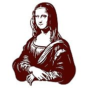 Vinilo Mona Lisa Marrón 80x105cm