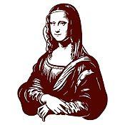 Vinilo Mona Lisa Marrón 92x120cm