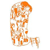 Vinilo El beso Naranja 60x100cm