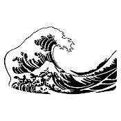 Vinilo La gran ola de Kanagawa Negro