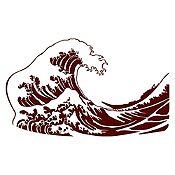Vinilo La gran ola de Kanagawa Marrón 120x71cm