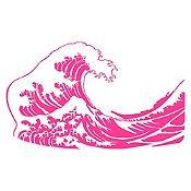 Vinilo La gran ola de Kanagawa Fucsia