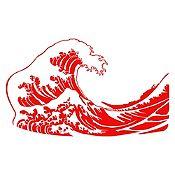 Vinilo La gran ola de Kanagawa Rojo
