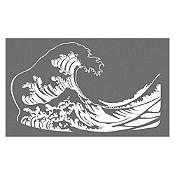 Vinilo La gran ola de Kanagawa Blanco 100x60cm