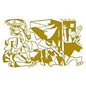 Vinilo Guernica Dorado 140x85cm