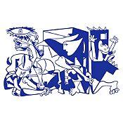 Vinilo Guernica Azul Medio 120x72cm