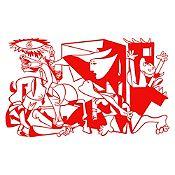 Vinilo Guernica Rojo 120x72cm