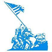 Vinilo Izando la bandera Iwo Jiima Azul claro