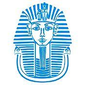 Vinilo Máscara Tutankamón Azul claro 87x120cm